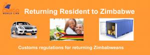 Returning resident to Zimbabwe